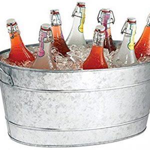 Galvanized Metal Beverage Bin